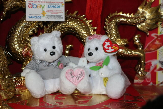 Buy Ty We Do Beanie Babies 2004 Original Wedding Bride and Groom 2 ... 8063e76deb5