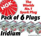 6x NEW NGK Laser Iridium SPARK PLUGS - Part No. IGR7A Stock No. 6687 6pk
