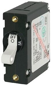 New A-series Single Pole Ac//dc Circuit Breaker blue Sea Systems 7206 10A White