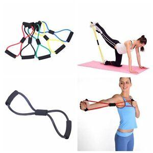8 Tour Corde Elastique Poitrine Extenseur Tube Exercice Musculation Yoga Fitness Ebay