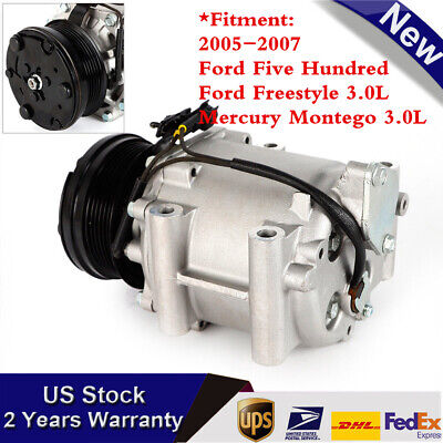 R97569 1YW AC Compressor fits 05-07 Ford Freestyle Five Hundred Mercury Montego