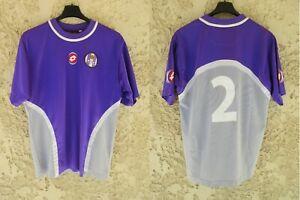 Maillot TOULOUSE TFC 2002 2003 2004 porté n°2 LOTTO vintage violet shirt trikot