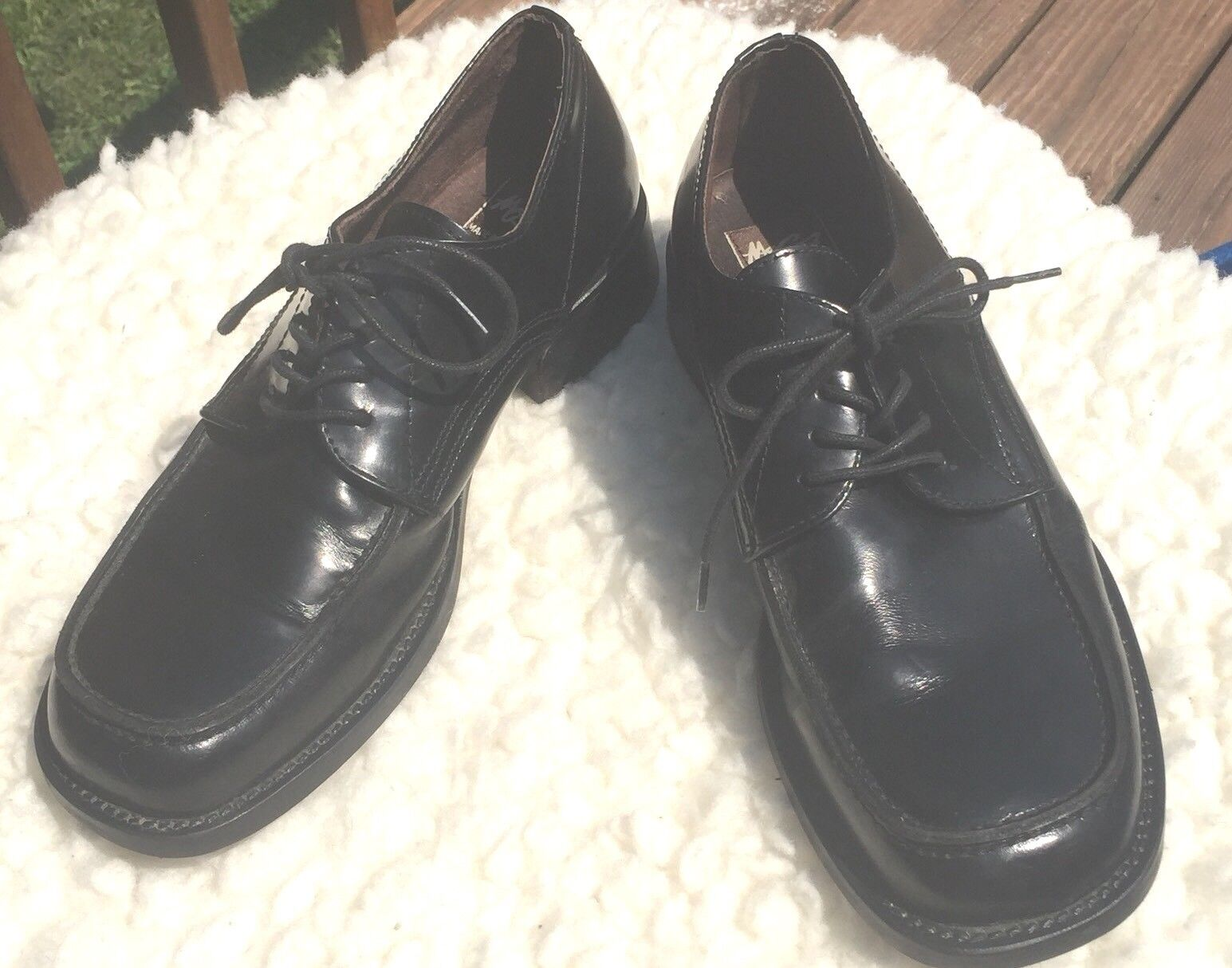 Mosa Oxford shoes Men's Leather Black Casual Career Made In Portugal Sz 10.5M