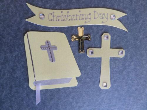 Bautizo Adornos Bautizo elaboración de tarjetas Scrapbook Toppers opciones