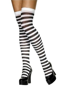 OVER-THE-KNEE-SOCKS-Striped-High-Thigh-Ladies-Long-Womens-Stripey-Stocking
