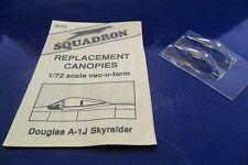SQUADRON 1:72 CUPOLINO DI RICAMBIO CANOPY DOUGLAS A-1J SKYRAIDER  ART 9112