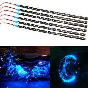 6Pcs-Blue-1Ft-15-LED-Car-Motors-Truck-Flexible-Strip-Light-Waterproof-12-inch-v