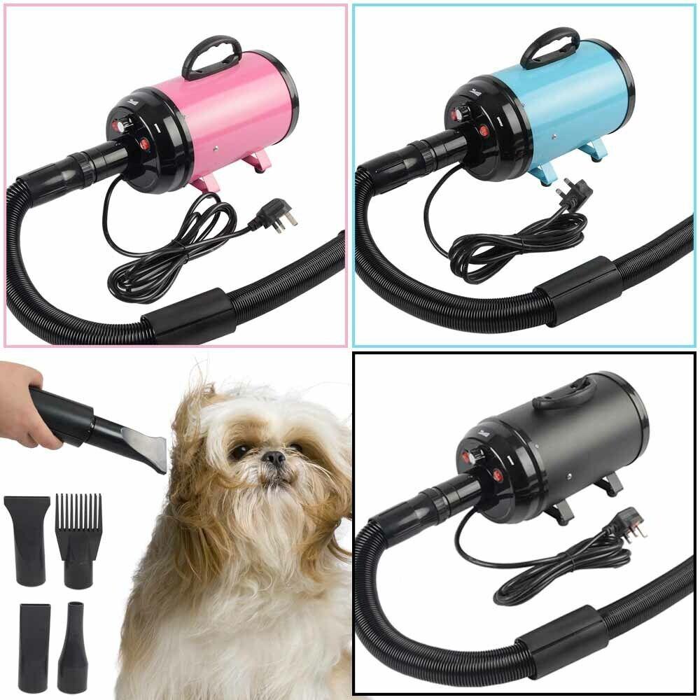 2800W Pet Dog Grooming Hairdryer Hair Dryer Adjustable Fur Blower Heater Blaster