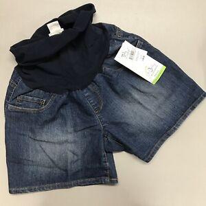 13ecd42755621 Oh Baby Maternity Shorts Motherhood Size S Blue Jean Secret Fit ...