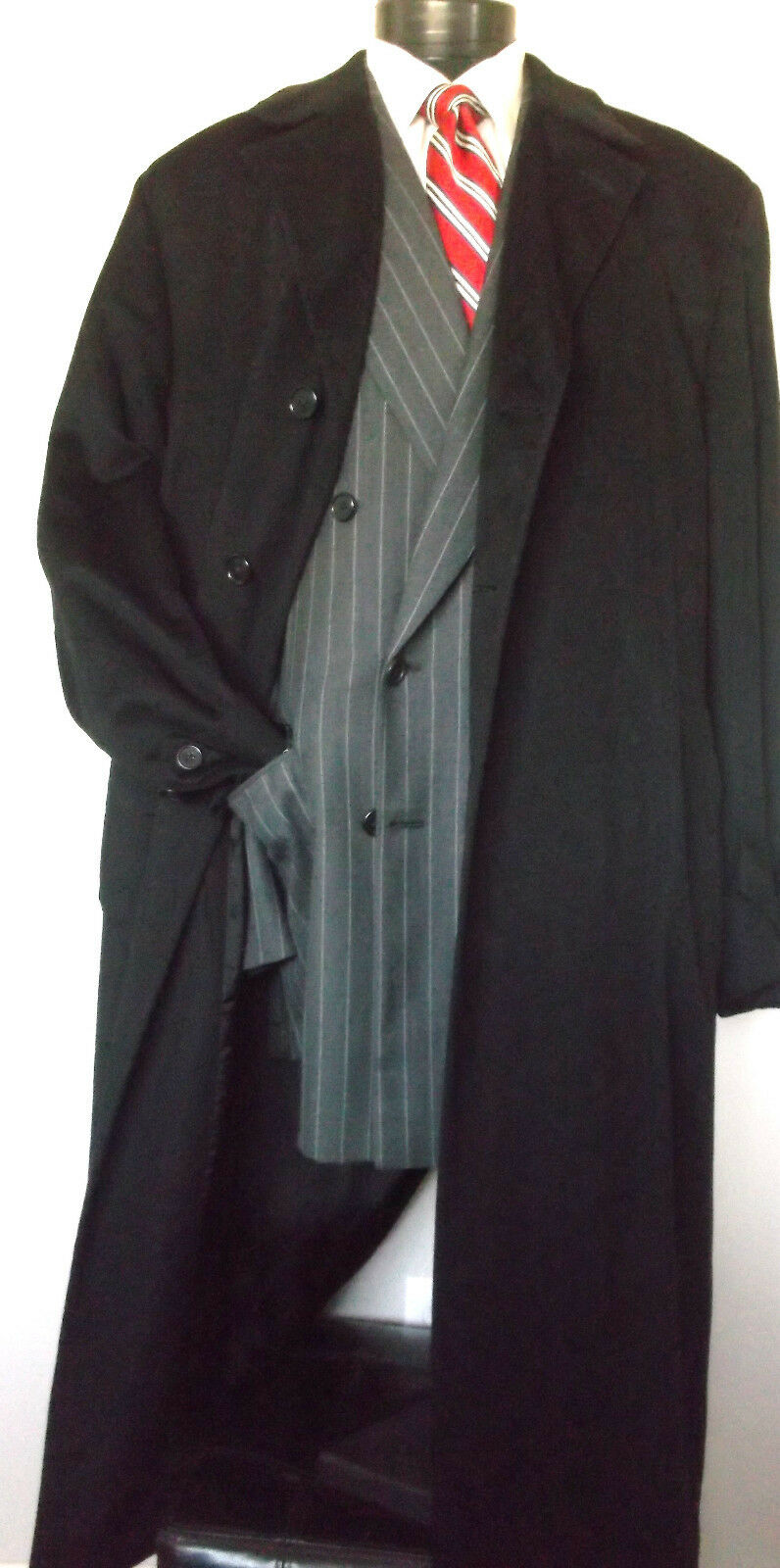 Neiman Marcus Loro Piana Storm System CashmereTop Overcoat Single Breasted  46L