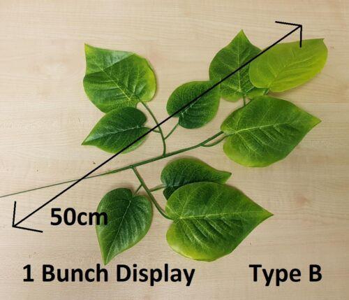 Ivy Leaf Bush Bouquet Green Fern Foliage Plant Artificial Leaves Vine Flower