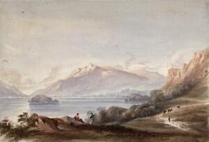 DERWENTWATER-LAKE-DISTRICT-Watercolour-Painting-19TH-CENTURY-c1825