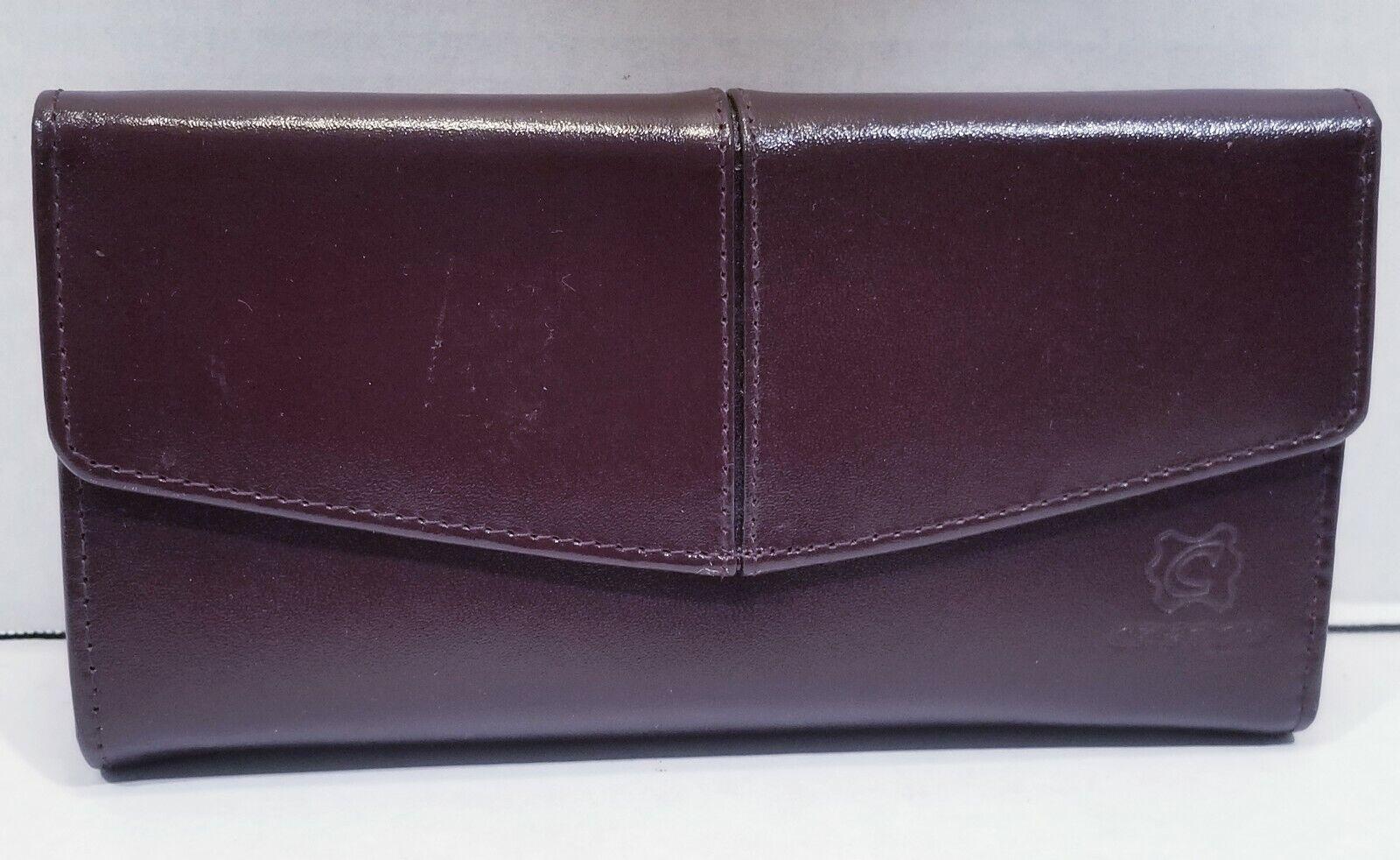 Latin Cuero Wallet Trifold Organizer Ecuadorian Leather Red Made In Ecuador