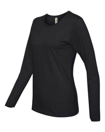 Womens Missy Fit Ringspun Long Sleeve Ladies T-Shirt S M L XL 2XL Anvil 884L