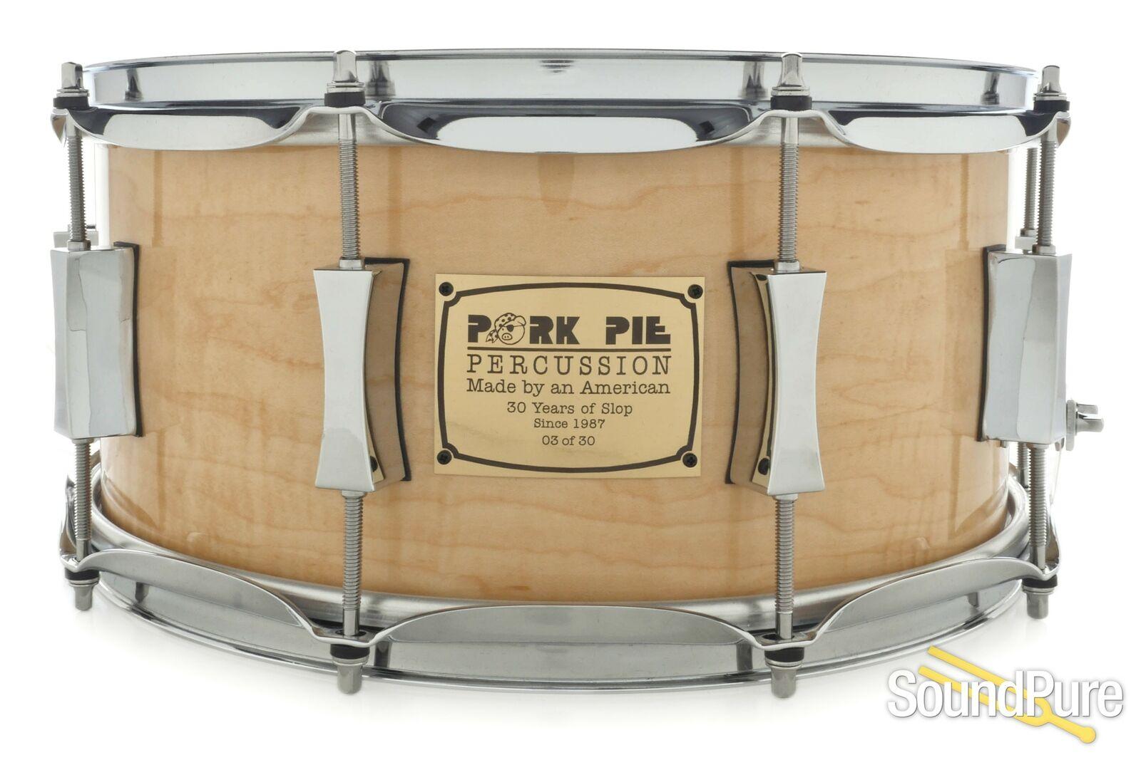 Pork Pie 6.5x14 Walnut Ply 30th Anniversary Snare Drum