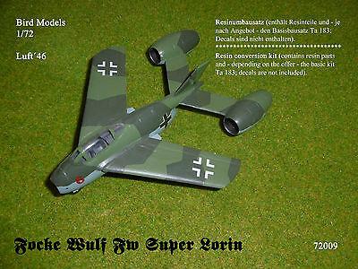 Focke Wulf Fw SUPER LORIN    1/72 Bird Models Resinumbausatz / resin conversion