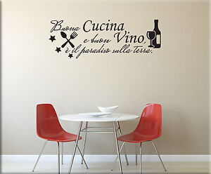 Adesivi murali frase cucina vino decorazioni da parete for Stickers murali cucina