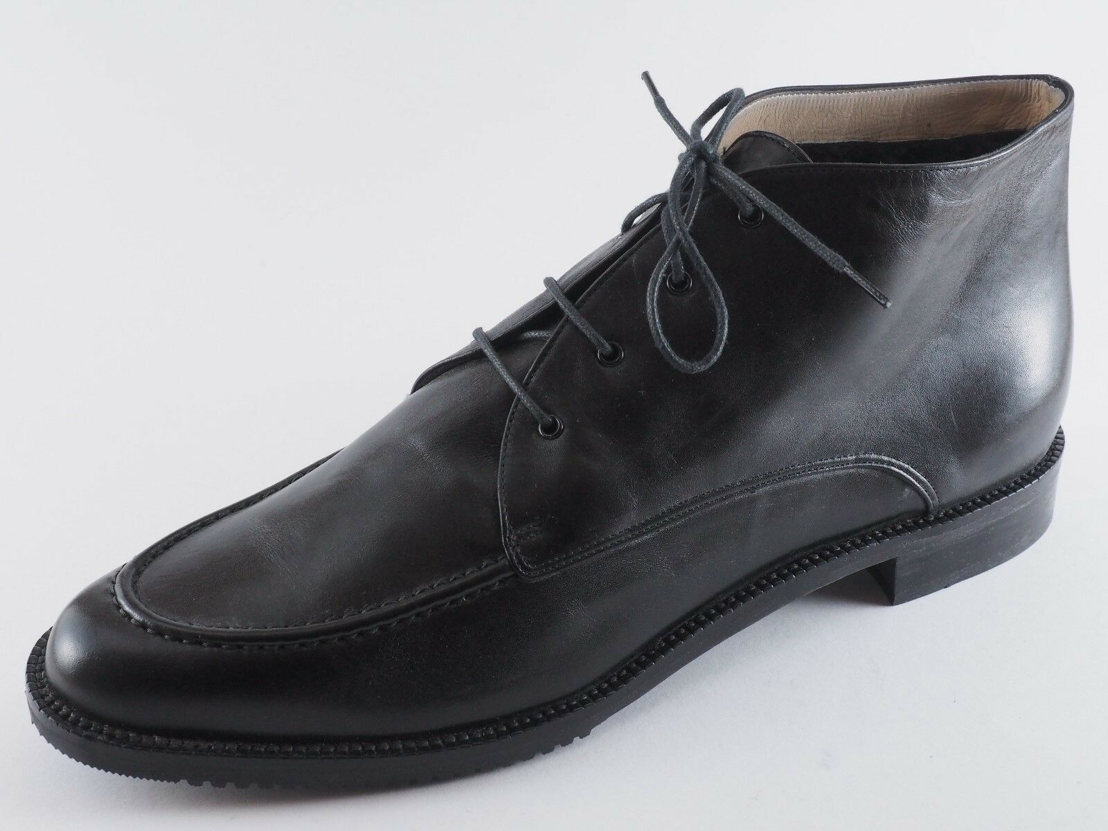 GIORGIO FIORETTI Damen Schuhe 35 39,5 Knöchelschuhe Gefüttert Leder Schwarz NEU