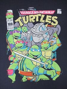 Teenage-Mutant-Ninja-Turtles-Fumetto-Stile-Libro-Grafico-XL-Blu-T-Shirt-C843