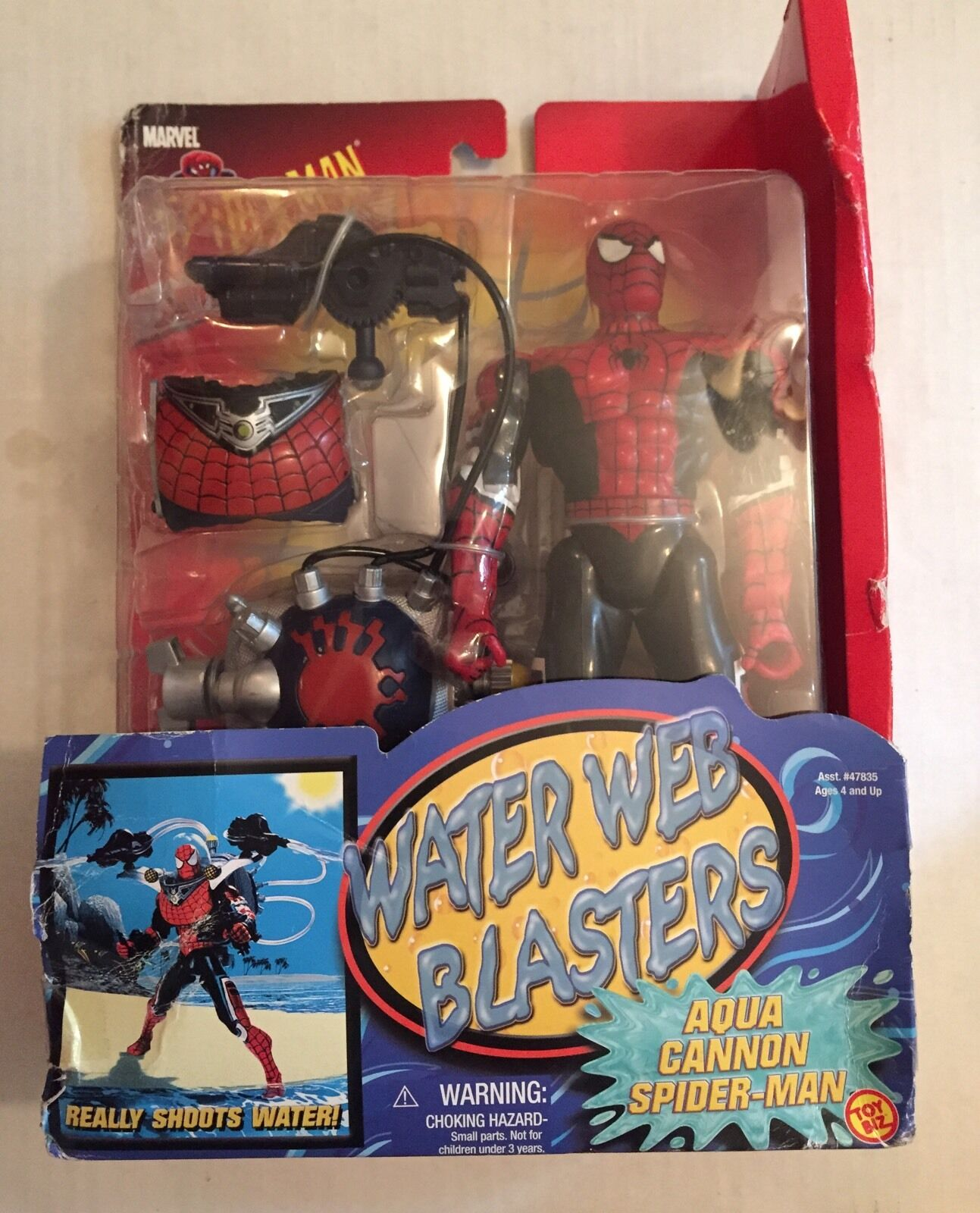 SpiderMan 10  Water Web Blasters Adventure Hero Action Figure Aqua Cannon-Toybiz