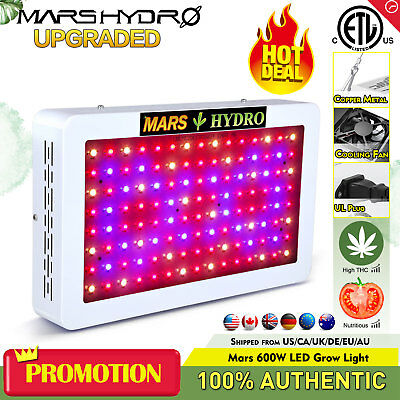 Mars 600W LED Grow Light Panel Full Spectrum Hydro Veg Flower Indoor Plant Lamp