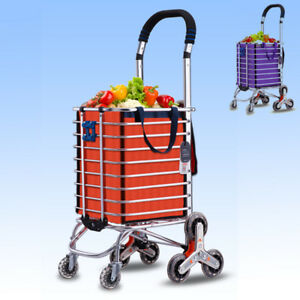 982bdfaa4ea1 Details about Portable Shopping Cart Bag Foldable Luggage 8 Wheels Trolley  Stair Climb MWT