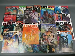 1980-1986-Epic-Illustrated-Marvel-Fantasy-Science-Fiction-Magazine-Collection-NR
