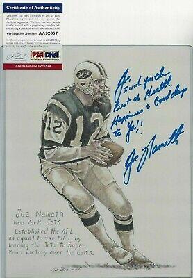 Framed Alabama Football Spotlight Joe Namath /& Bear Bryant Autograph Replica Print