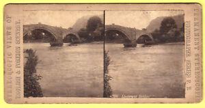 Stereoscopic-Card-Llanrwst-Bridge-P-B