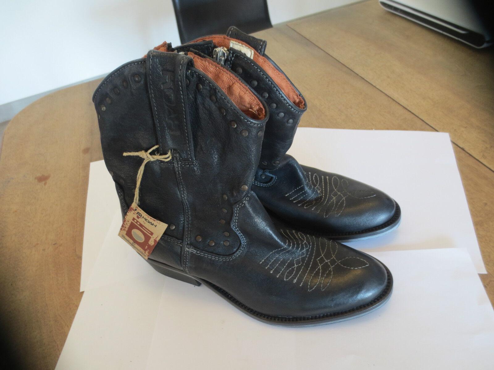 Koah boots jumper cuir noir NEUVE Valeur 149E Pointures 36,37.