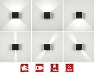 LED Wandleuchte IP54 Außen Innen Wandspot Fassadenlampe Strahler UP-Down-Leuchte