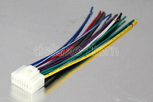 new alpine 16 pin car stereo wire wiring connector lead ebay rh ebay com car stereo wiring harness connectors e2 car stereo wiring connector