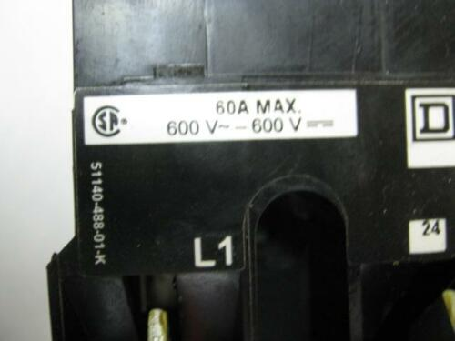 Square D Disconnect Switch 9422TDF63  3 Pole Fuseable 60 A Series a