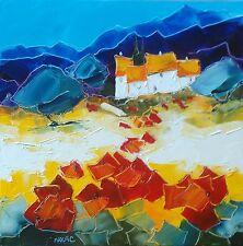 Tableau de Nolac tableau éclat Luminosité et coquelicots provence  peinture