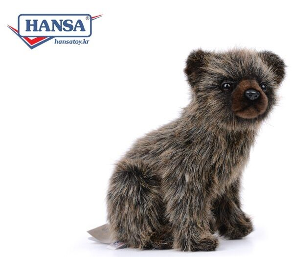 Miss oh/  Grizzly Bear Cub/24cm.H 7041Stuffed Plush Soft Toy Stofftier realistic