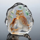 Clear Crystal Iceberg Paperweight Owl Sculpture Figurine Ornament Decor Gift