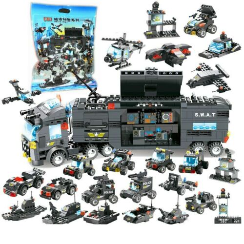 City Special Police Series Swat Truck Station Building 8 1 Blocks Lego Legos