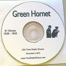 Green Hornet 1 CD 91 Shows-Old Time Radio-1938-1952-Detective ONLY $3.99