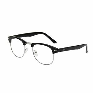 b74e5b75b6 Mens Non Prescription Clear Lens Vintage Classic Glasses Stylish ...