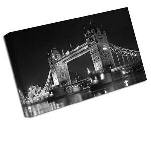 Londres Impression Toile Pont De La Tour Paysage Urbain Photo Artistique Petit - 12 Pouces X 8 Pouces, moyen 16 Pouces, grand 24 Pouces, xlarge 30 20 Pouces, xxlarge 36 Pouces, xxxlarge 42 Po