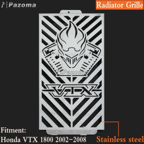 Motorcycle Radiator Grille Cover Stainless Steel Fits Honda VTX1800 2002-2008