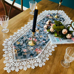 Floral-Lace-Trim-Table-Runner-Tablecloth-Furniture-Cover-Baroque-Home-Decor-Chic