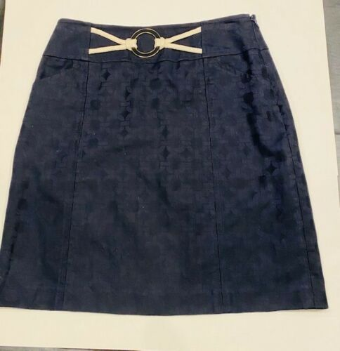 Milly Women's navy- blue sailor short skirt, size