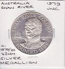 1979 Western Australia WA 150th Anniversary Swan River Colony SILVER Medallion