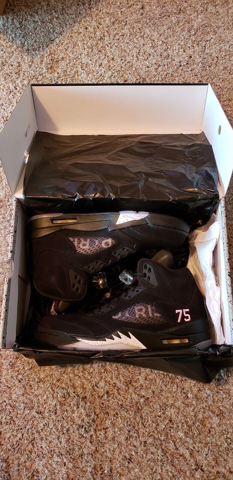 Jordan 5 Retro Negro (Air Paris St-Germain) (sin usar)