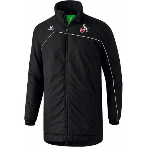 Erima 1 FC Köln Club 1900 2.0 Herren Winterjacke Stadionjacke 1060711 schwarz