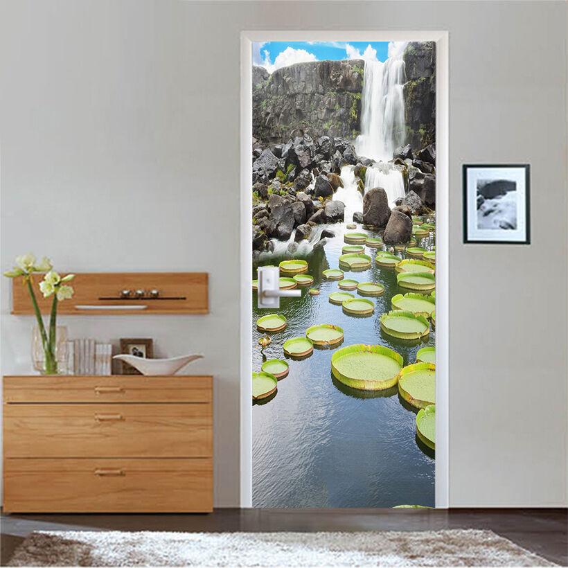 3D Wasserfall 733 Tür Wandmalerei Wandaufkleber Aufkleber AJ WALLPAPER DE Kyra