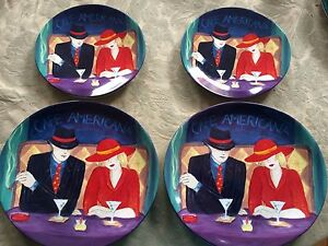 Image is loading 4-Pc-Lot-Sango-Cafe-Americana-2-Salad- : dinner plate art - Pezcame.Com