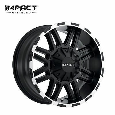 "Impact 1 PC Off Road Wheels 20x9/"" 5x150mm 18mm Black Machine Edge"