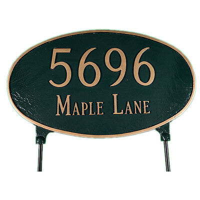 Oval Address Plaque Lawn Marker House Sign Numbers wall Custom Made